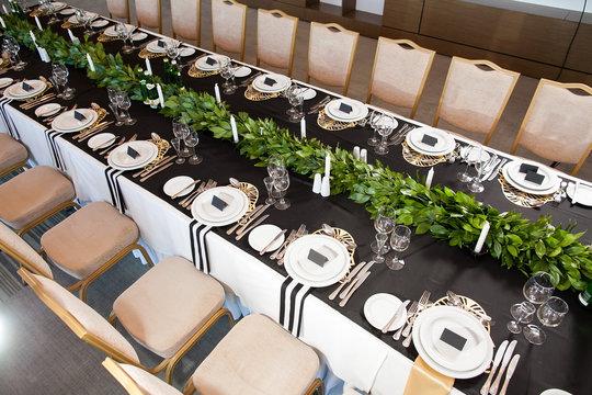 Wedding decor. Wedding interior. Festive decor.