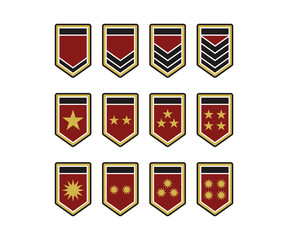 Army Shield Epaulets, Military Ranks and Insignia