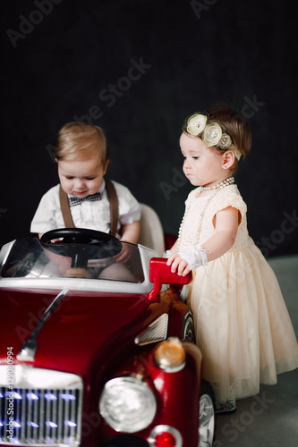 Toys For Boys Wedding : Quot two babies wedding boy and girl dressed as bride