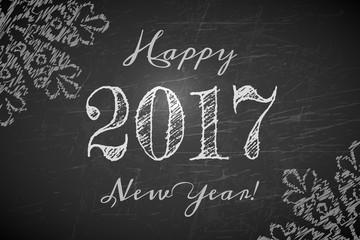 Happy 2017 New Year text design