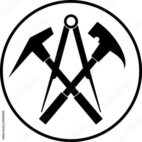 Dachdecker symbol  Aufkleber, Werkzeuge, Dachdecker Logo