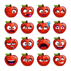 Funny cartoon apple character