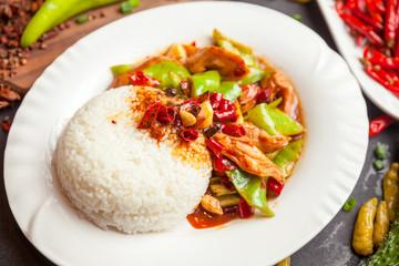 Chinese food, rice