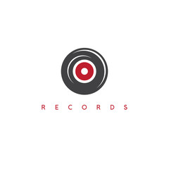 abstract vinyl record simple icon vector design template