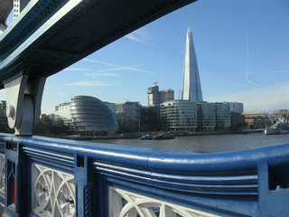 View of London from Tower Bridge, England, United Kingdom