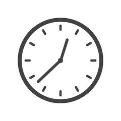 Clock icon vector,
