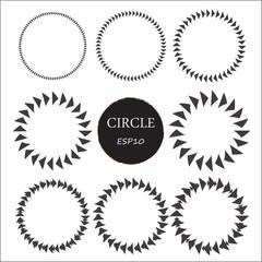 Set of hand drawn circles, vector design elements