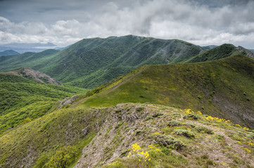 Orta-Syrt ridge slopes in mountains of Crimea