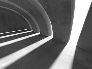 Empty concrete room interior. Abstract architecture urban backgr