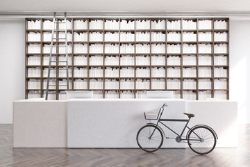 Library with a bike