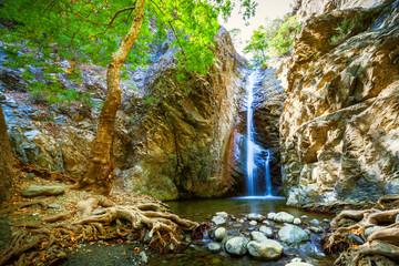 Garden Poster Cyprus Millomeris Waterfalls near in Cyprus.