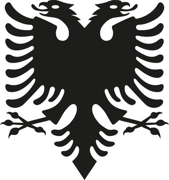 Eagle from albania flag