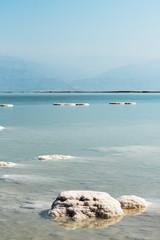 Salty Dead sea, Israel.
