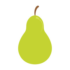 pear fruit icon image vector illustration design