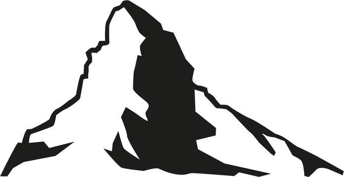 Matterhorn mountain silhouette