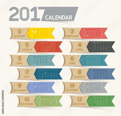 Calendar Ribbon Design : Quot calendar print template design ribbon paper style