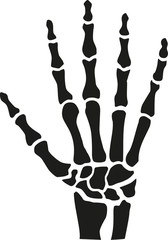 Skeleton hand with bones