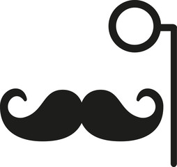 Mustache with monocle