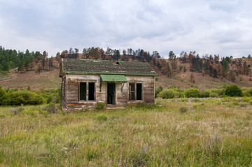 Abandoned Rural Home on the Summer Prairie