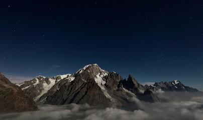 Mountain at night Chamonix