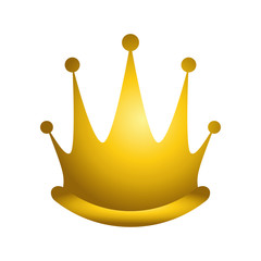 royal queen gold crown icon over over white background. vector illustration