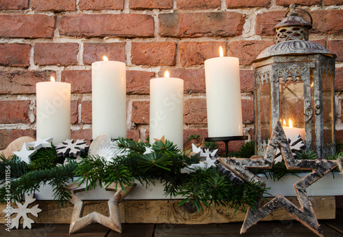 Frohe weihnachten 4 advent dekoration mit for Dekoration advent