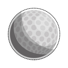 golf ball icon image vector illustration design