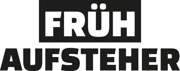 Early riser - german word