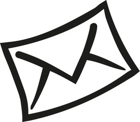 Abstract envelope letter icon