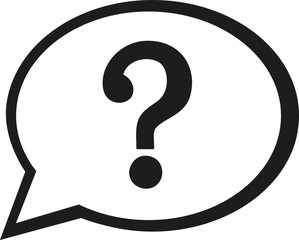 Speech bubble icon with question mark