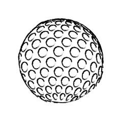 golf ball icon over white background. sport equipment. vector illustration