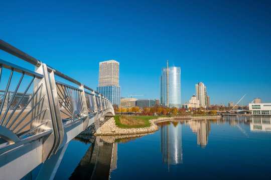 Milwaukee skyline in USA