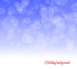 Holiday blue background