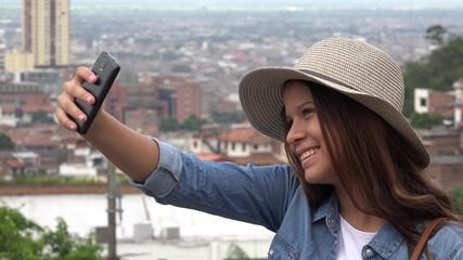 Teen Girl Taking Selfies