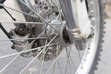 wheel on the bike