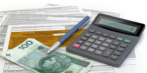 Obraz PIT - rozliczenie podatku - fototapety do salonu