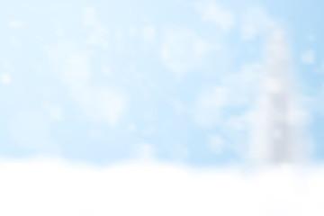 Blurred Bokeh Blue Winter background