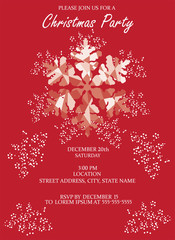 Vector Christmas Invitation