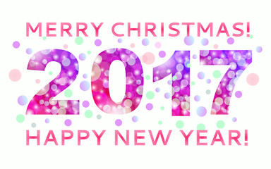 Greetings  Merry Christmas and Happy New Year with the image of