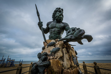 Wall Mural - The King Neptune Statue in Virginia Beach, Virginia.