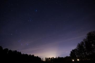 Eine Nacht unter den Sternen in den Niederlanden