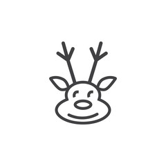 Deer icon on the white background. New year set of icons. Christmas holidays