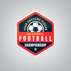 Soccer logo design,vector illustration