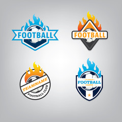 Soccer logo design set,vector illustration