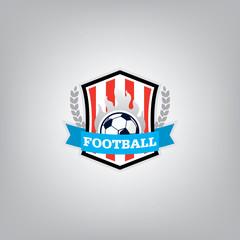 Soccer Logo Design Template, Football badge team identity, Socce