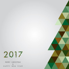 christmas and happy new year card vector background 2017
