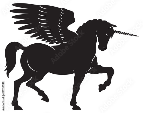 quotwinged unicorn vector vector illustration of a winged