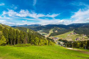 Carpathian mountains in Bukovel