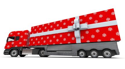 Christmas gift truck
