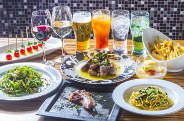 イタリア料理とカクテルパーティー